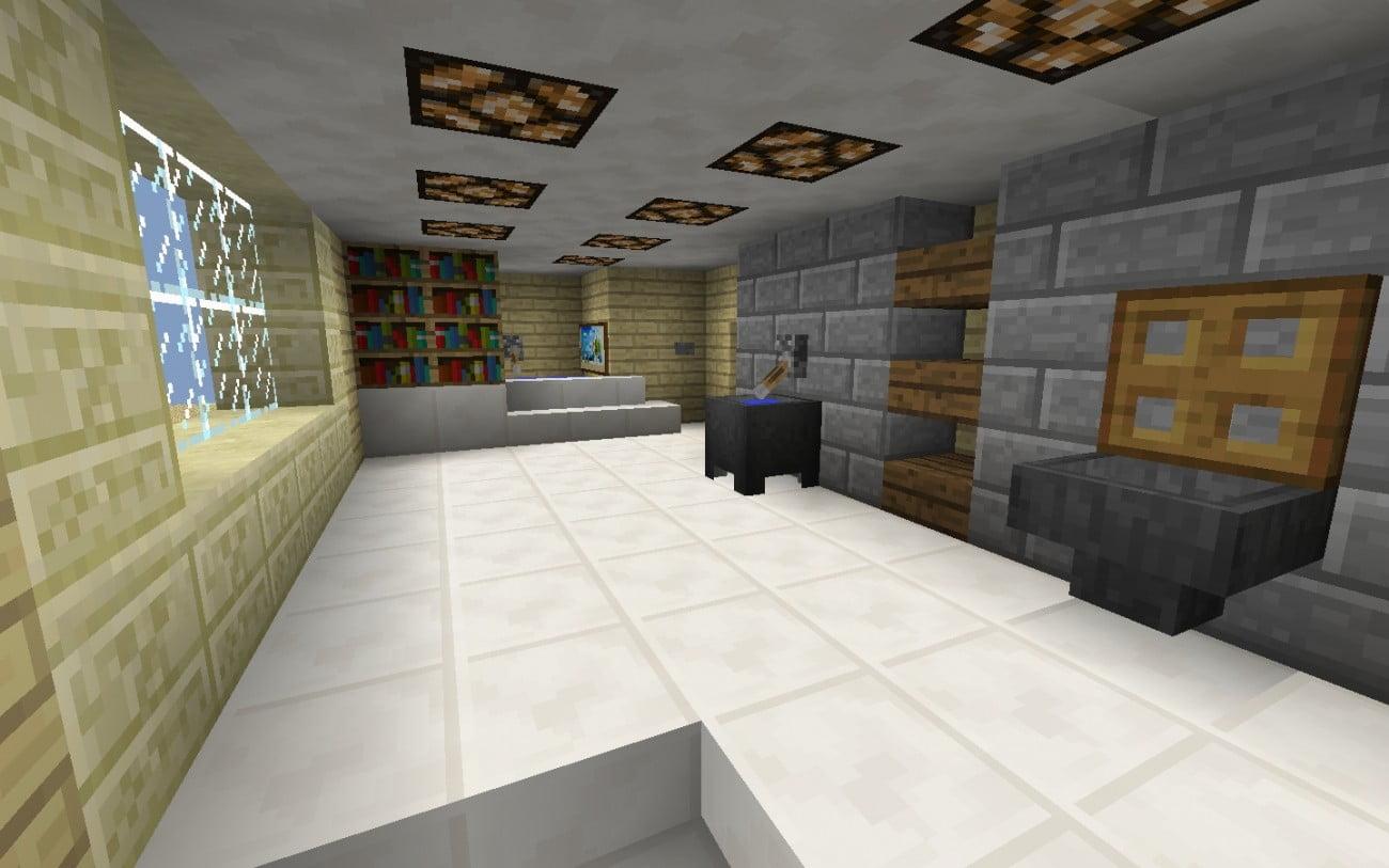 gro es badezimmer in minecraft bauen minecraft. Black Bedroom Furniture Sets. Home Design Ideas