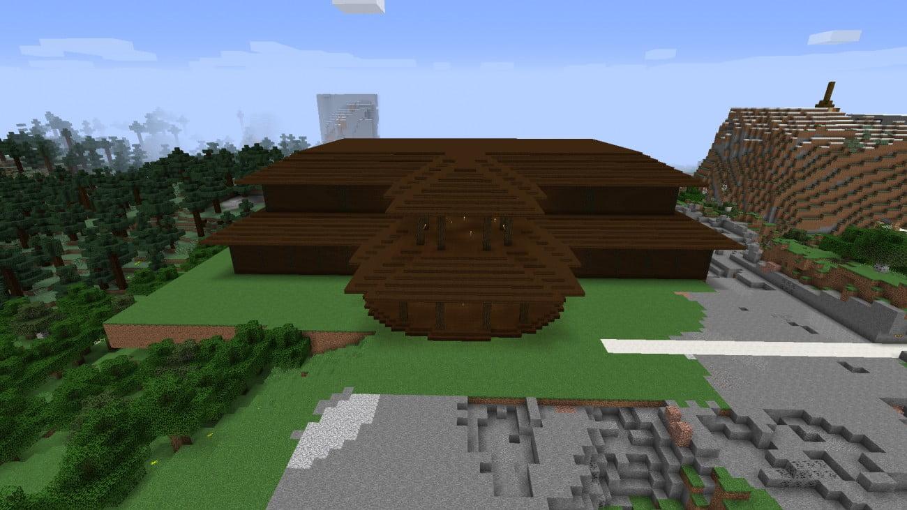 ᐅ Großes Holzhaus In Minecraft Bauen Minecraftbauideende - Minecraft hauser kopieren