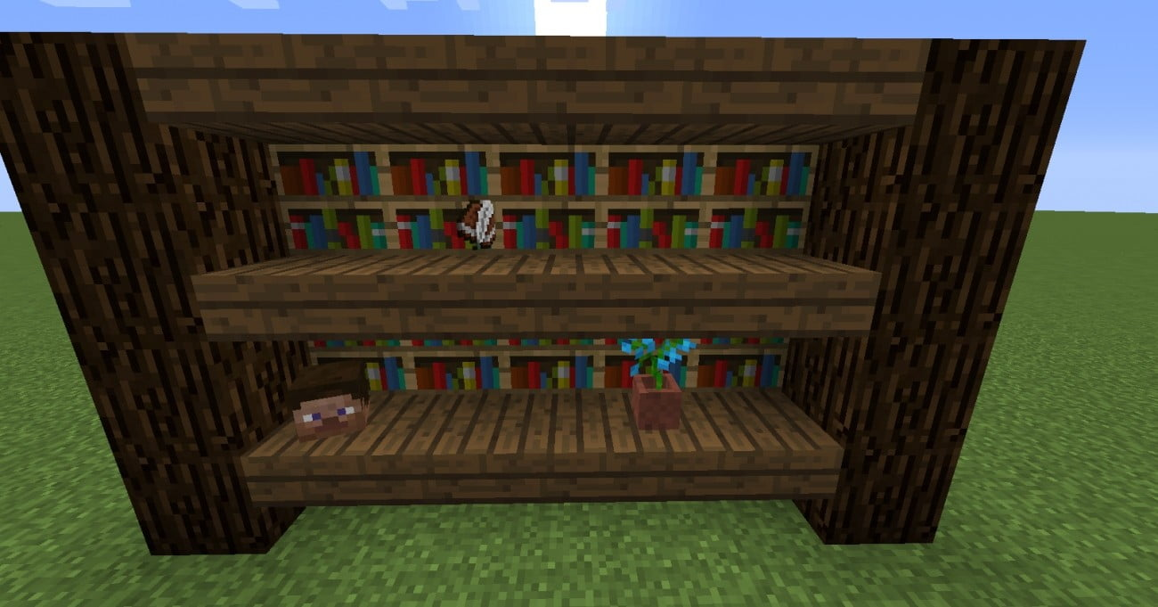 gro es regal in minecraft bauen minecraft. Black Bedroom Furniture Sets. Home Design Ideas
