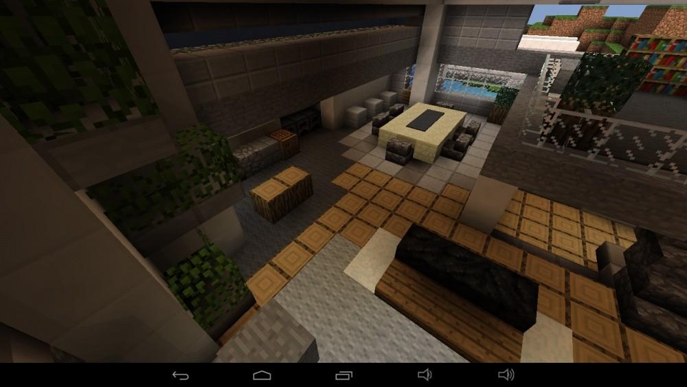 gro es abstraktes haus am berg in minecraft bauen minecraft. Black Bedroom Furniture Sets. Home Design Ideas