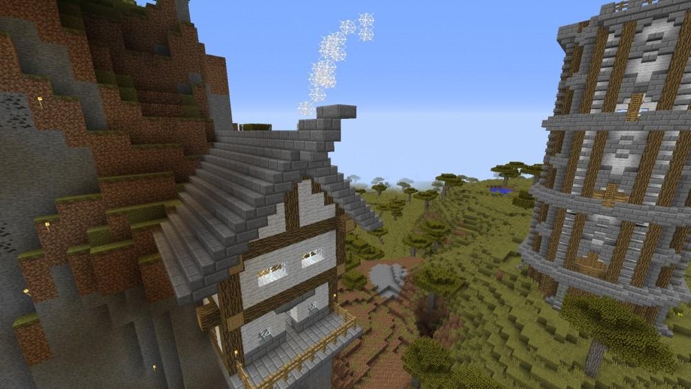 ᐅ Hängendes Haus In Minecraft Bauen Minecraftbauideende - Minecraft haus bauen im berg