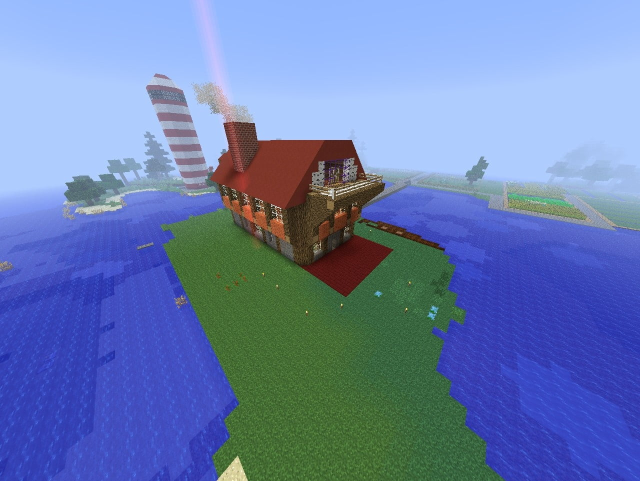 ᐅ Haus Mit Schrägen In Minecraft Bauen Minecraftbauideende - Hauser in minecraft einfugen