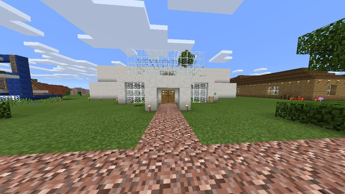 ᐅ Haus Mit Kleinem Garten In Minecraft Bauen Minecraftbauideende - Minecraft hauser aus stein