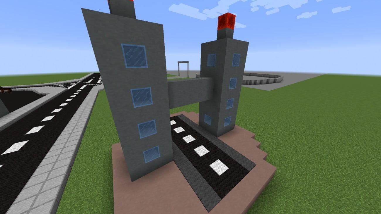 hochhaus statue in minecraft bauen minecraft. Black Bedroom Furniture Sets. Home Design Ideas