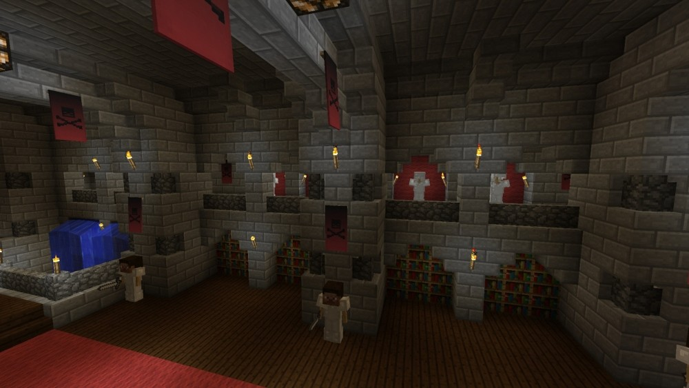 hoher rat in minecraft bauen minecraft. Black Bedroom Furniture Sets. Home Design Ideas