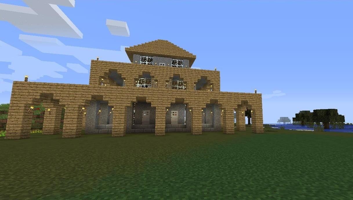 holzhaus in minecraft bauen minecraft. Black Bedroom Furniture Sets. Home Design Ideas