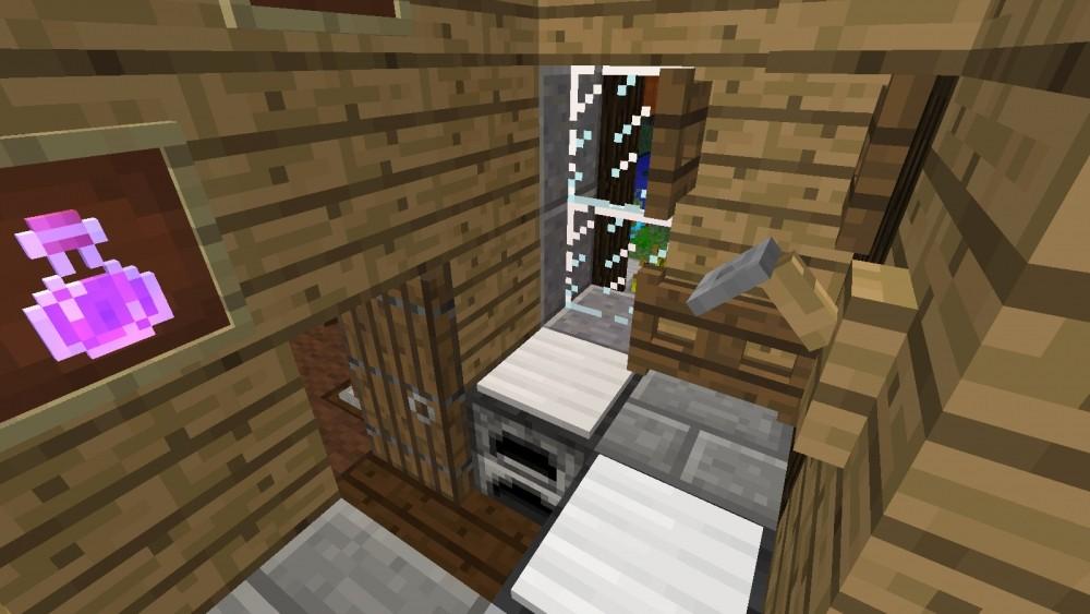 idyllisches h uschen in minecraft bauen minecraft. Black Bedroom Furniture Sets. Home Design Ideas