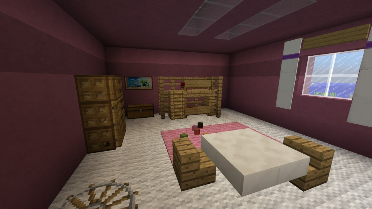 Kinderzimmer in minecraft bauen minecraft for Minecraft kinderzimmer