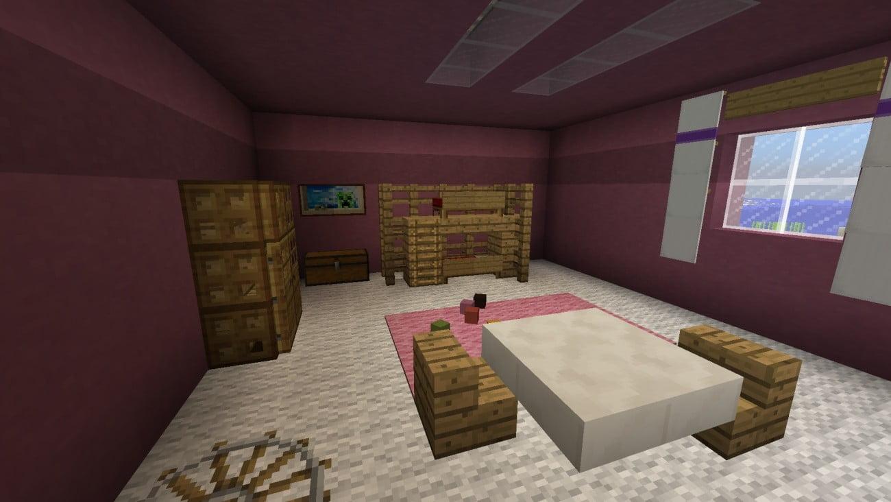 Kinderzimmer in minecraft bauen minecraft for Zimmer dekoration kinderzimmer