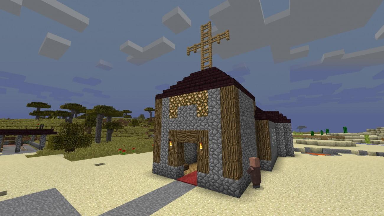 Kirche in minecraft bauen minecraft for Bauideen minecraft