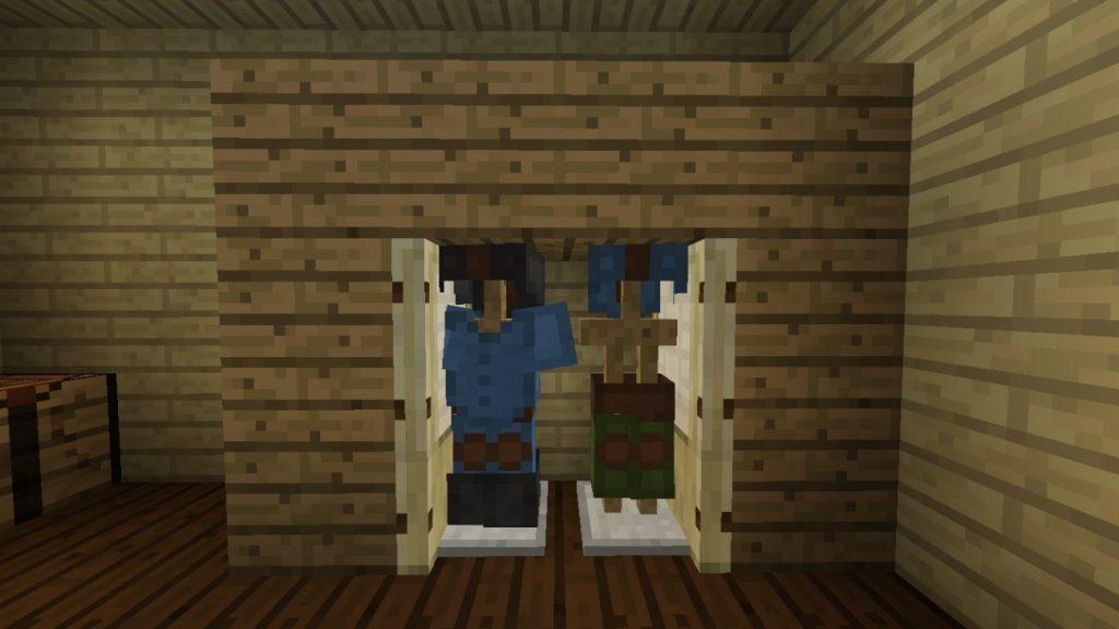 kleiderschrank in minecraft bauen minecraft. Black Bedroom Furniture Sets. Home Design Ideas