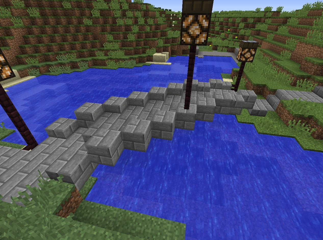 Build A Small Stone Bridge In Minecraft Minecraft Bauideen De