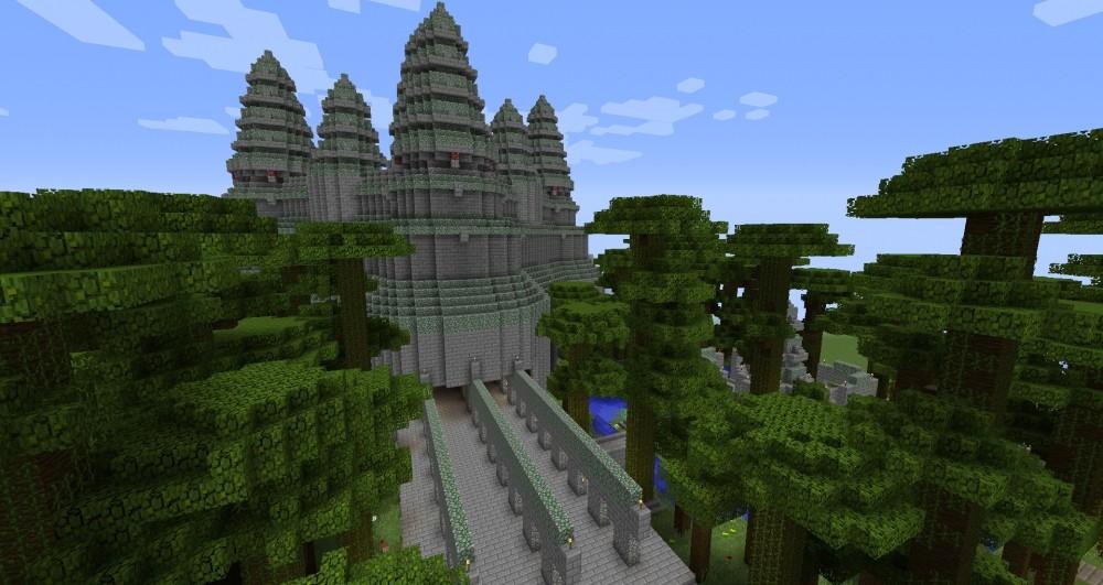 kleiner dschun gel tempel in minecraft bauen minecraft. Black Bedroom Furniture Sets. Home Design Ideas