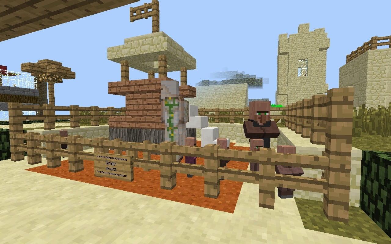 kleiner spielplatz in minecraft bauen minecraft. Black Bedroom Furniture Sets. Home Design Ideas