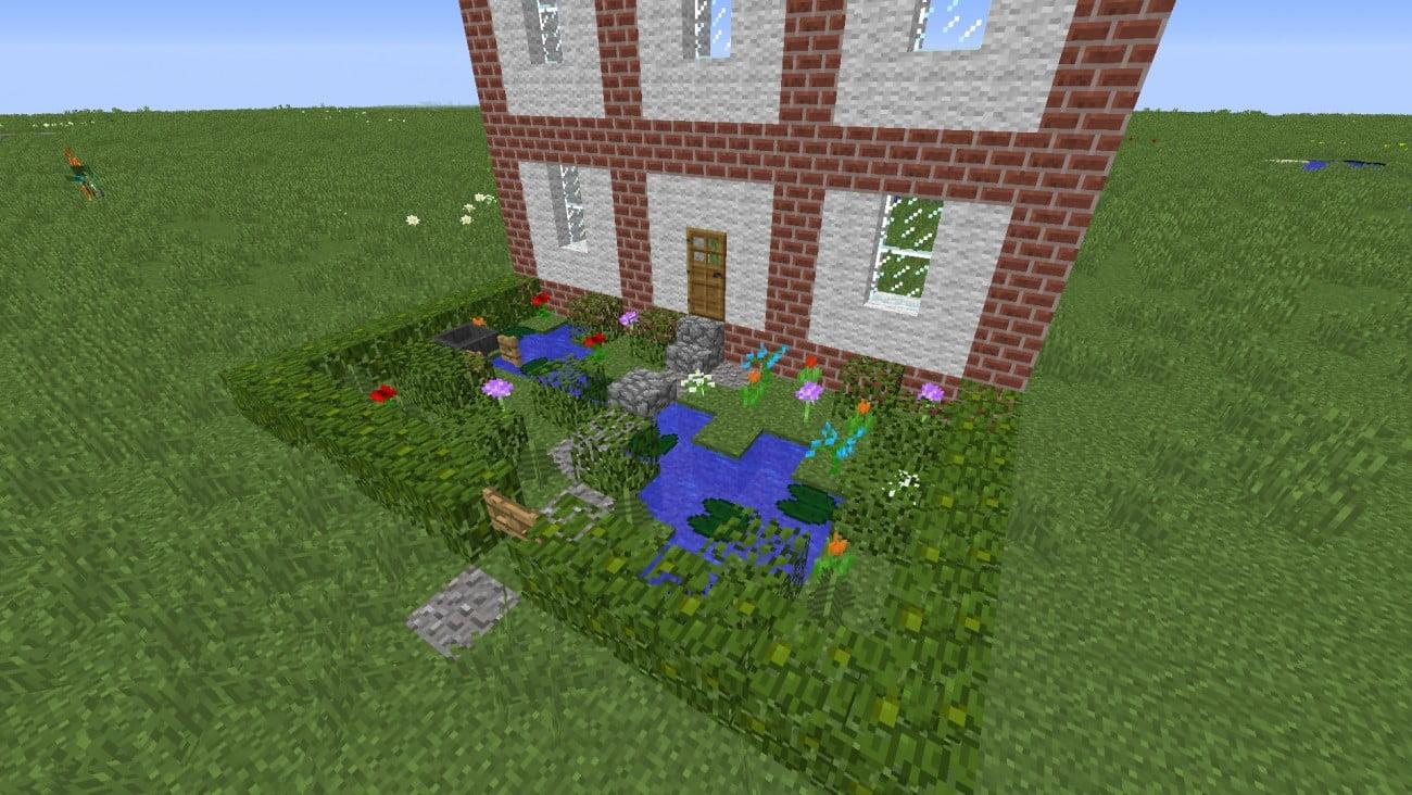 kleiner vorgarten in minecraft bauen minecraft. Black Bedroom Furniture Sets. Home Design Ideas