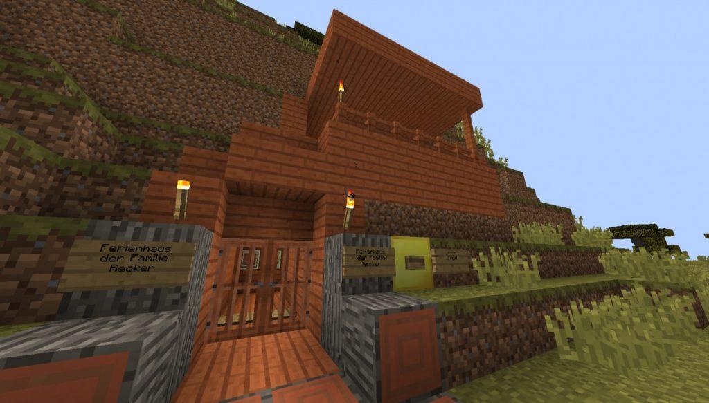 kleines ferienhaus in minecraft bauen minecraft. Black Bedroom Furniture Sets. Home Design Ideas