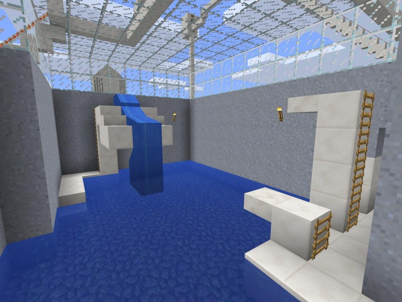 kleines schwimmbecken in minecraft bauen minecraft