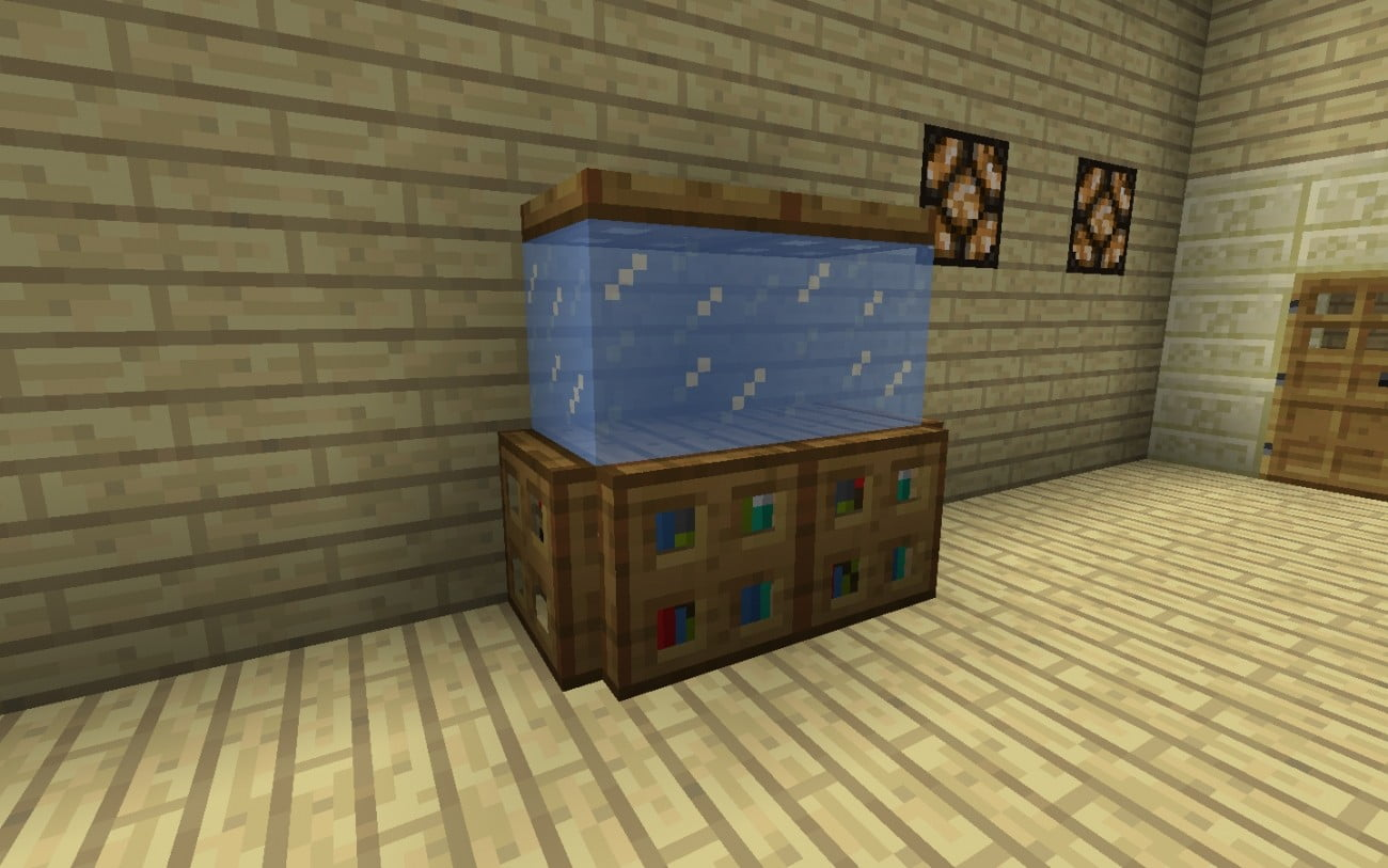 Kleines k nstliches aquarium in minecraft bauen - Minecraft dekoration ...