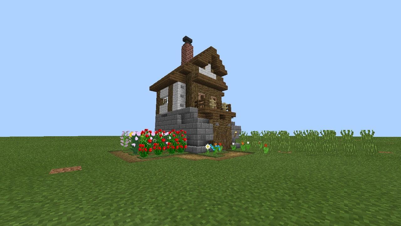 ᐅ Kleines Mittelalterliches Haus In Minecraft Bauen Minecraft - Minecraft kleine mittelalter hauser