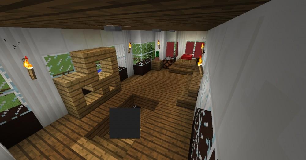 Kompakte villa minecraft bauideen - Minecraft schlafzimmer ...