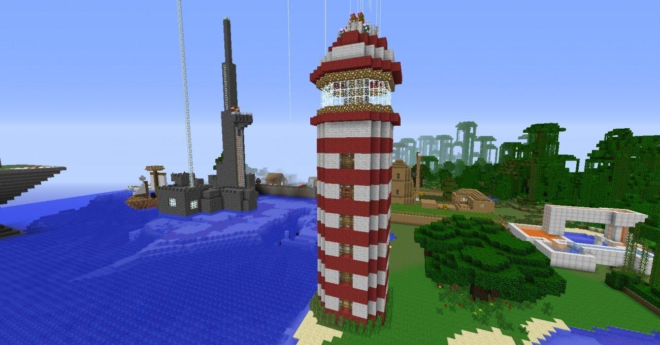 leuchtturm in minecraft bauen minecraft. Black Bedroom Furniture Sets. Home Design Ideas