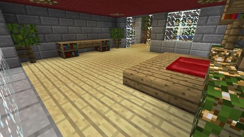 luxus stein villa in minecraft bauen minecraft. Black Bedroom Furniture Sets. Home Design Ideas