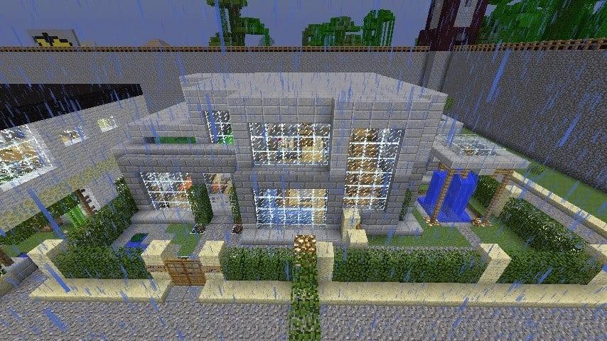 ᐅ Luxus SteinVilla In Minecraft Bauen Minecraftbauideende - Minecraft hauser aus stein