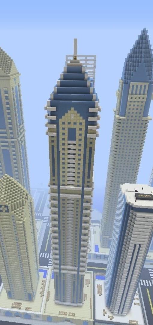 Luxus wolkenkratzer elite residence minecraft bauideen - Minecraft hochhaus ...