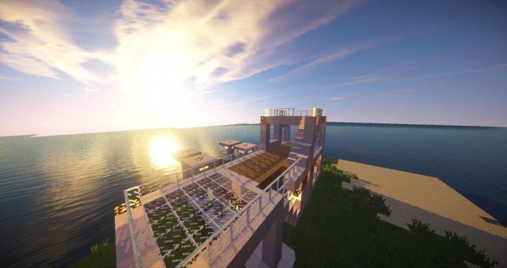 Luxusvilla in minecraft bauen minecraft for Luxusvilla bauen