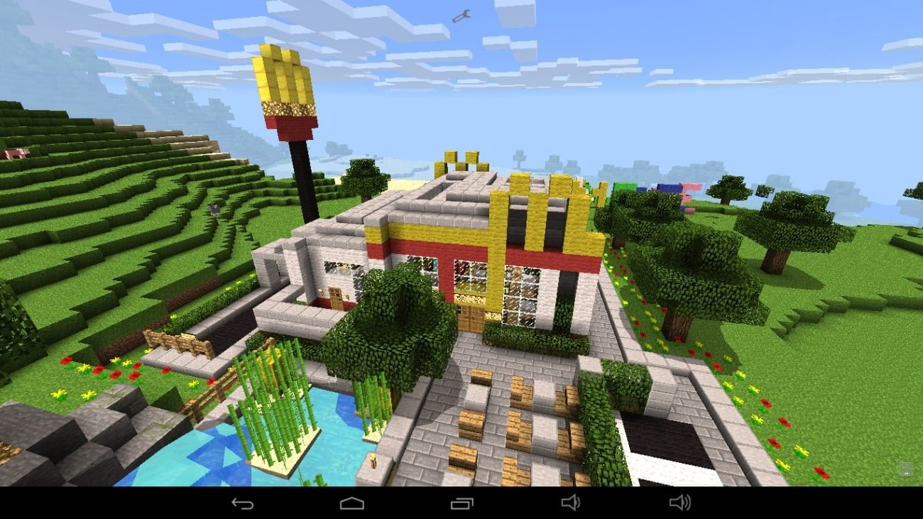 Mc donalds in minecraft bauen minecraft for Craftingpat modernes redstone haus