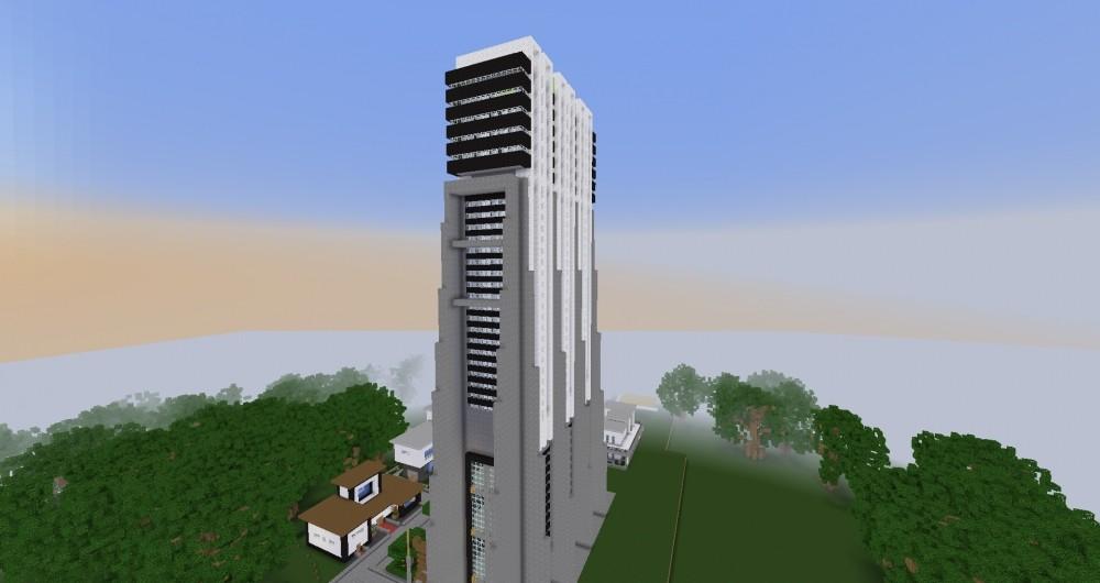 Mehrst ckiges hochhaus im luxus style minecraft bauideen - Minecraft hochhaus ...