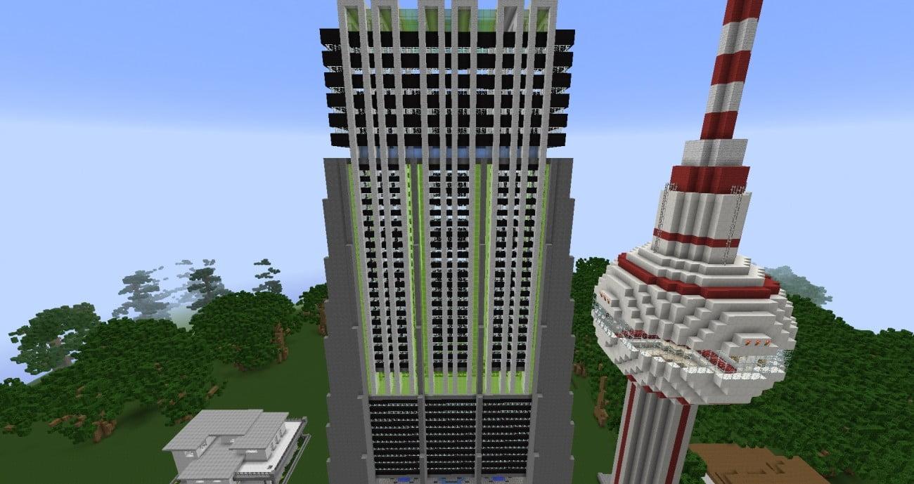 Mehrst ckiges hochhaus im luxus style in minecraft bauen - Minecraft hochhaus ...