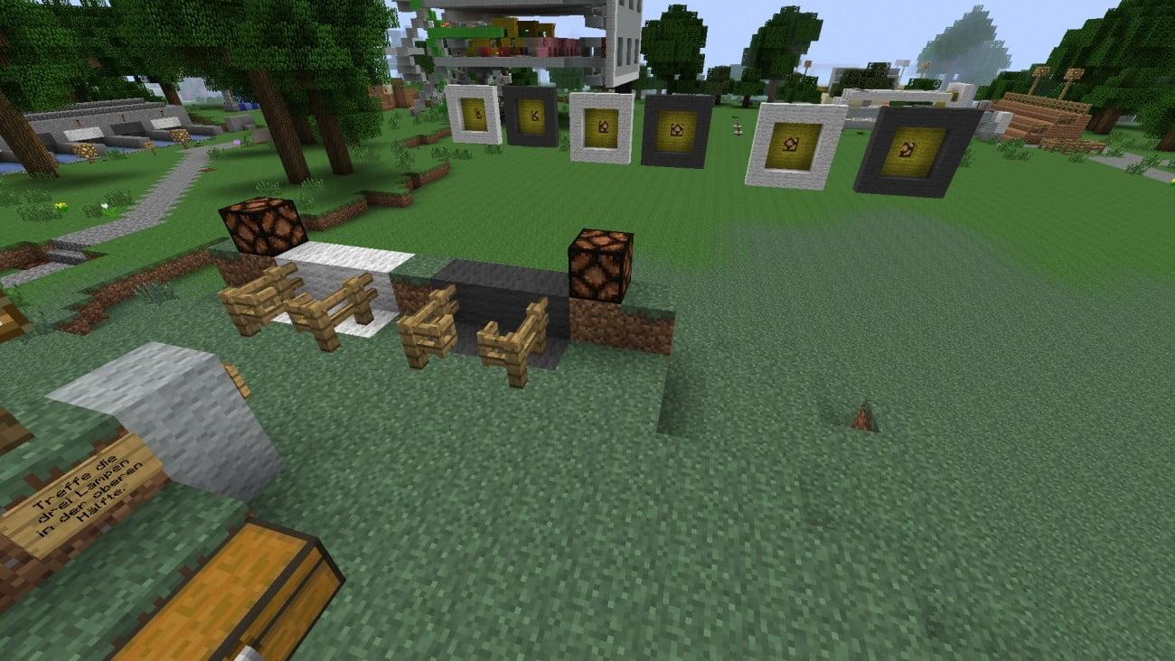 ᐅ Minispiel Schießstand Vs In Minecraft Bauen Minecraftbauideende - Minecraft minispiele