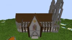 mittelalter kathedrale in minecraft bauen minecraft. Black Bedroom Furniture Sets. Home Design Ideas