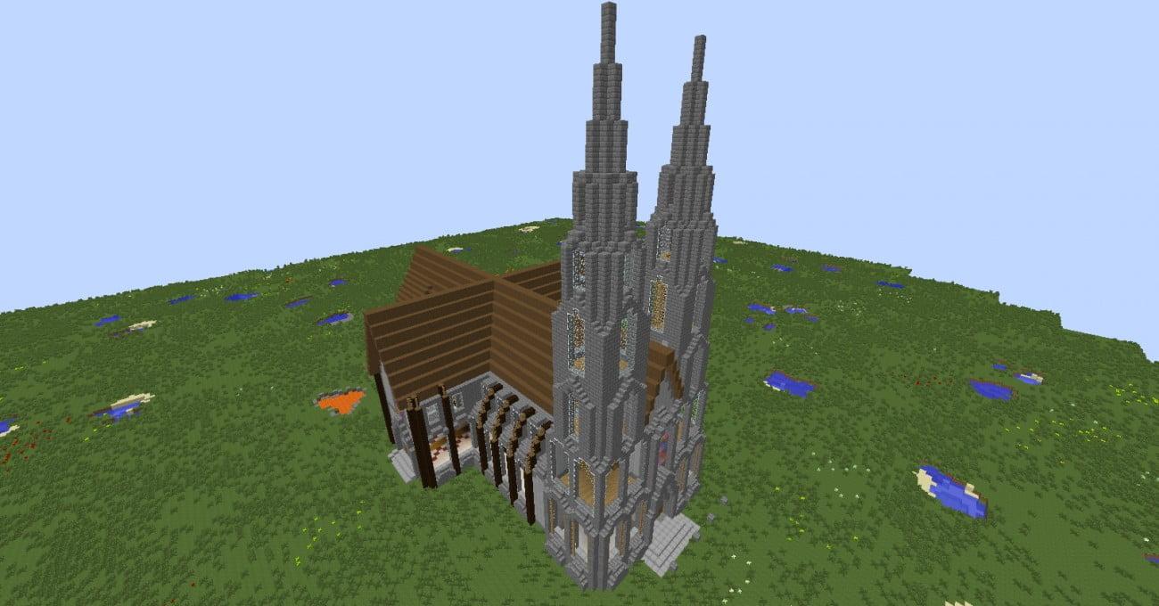 Mittelalter kathedrale in minecraft bauen minecraft for Bauideen minecraft