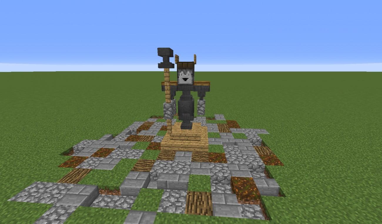 Mittelalterliche statue in minecraft bauen minecraft for Bauideen minecraft