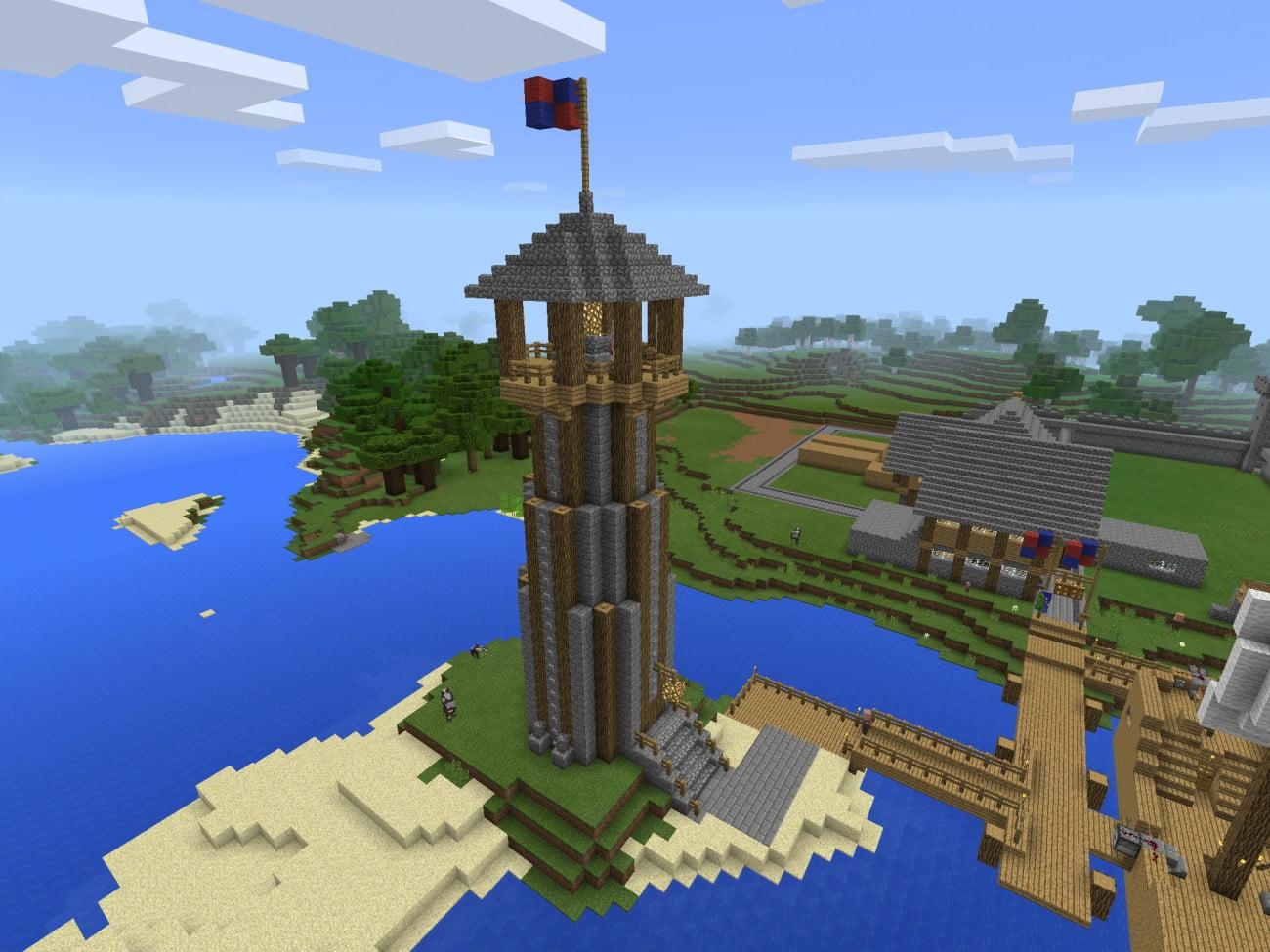 ᐅ Mittelalterlicher Leuchtturm In Minecraft Bauen Minecraft