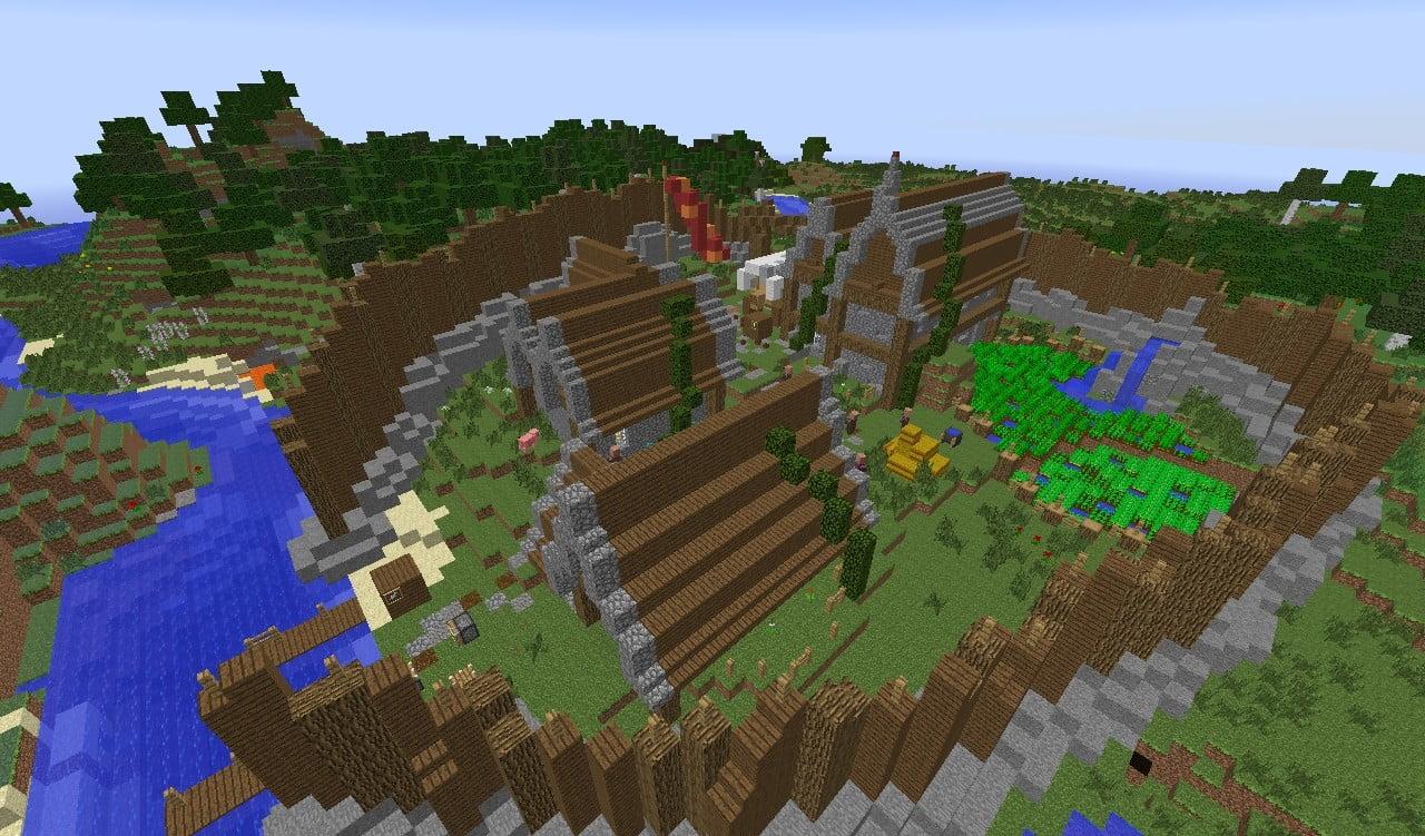 Mittelalterliches dorf in minecraft bauen minecraft for Bauideen minecraft