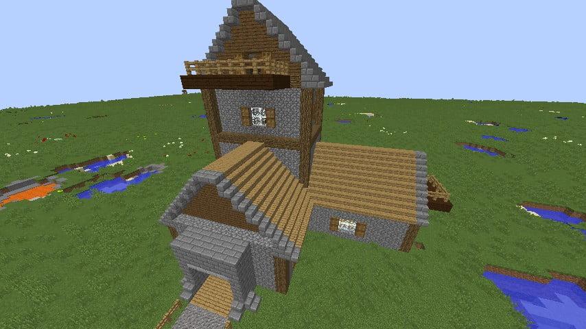 Mittelalterliches haus mit dekoration in minecraft bauen - Minecraft dekoration ...