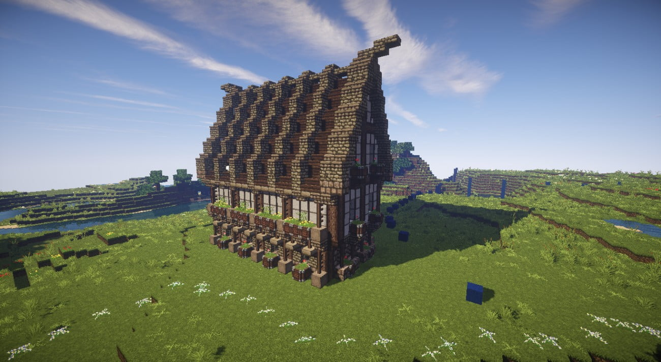 ᐅ Build A Medieval House With A Beautiful Roof In Minecraft Minecraft Bauideen De