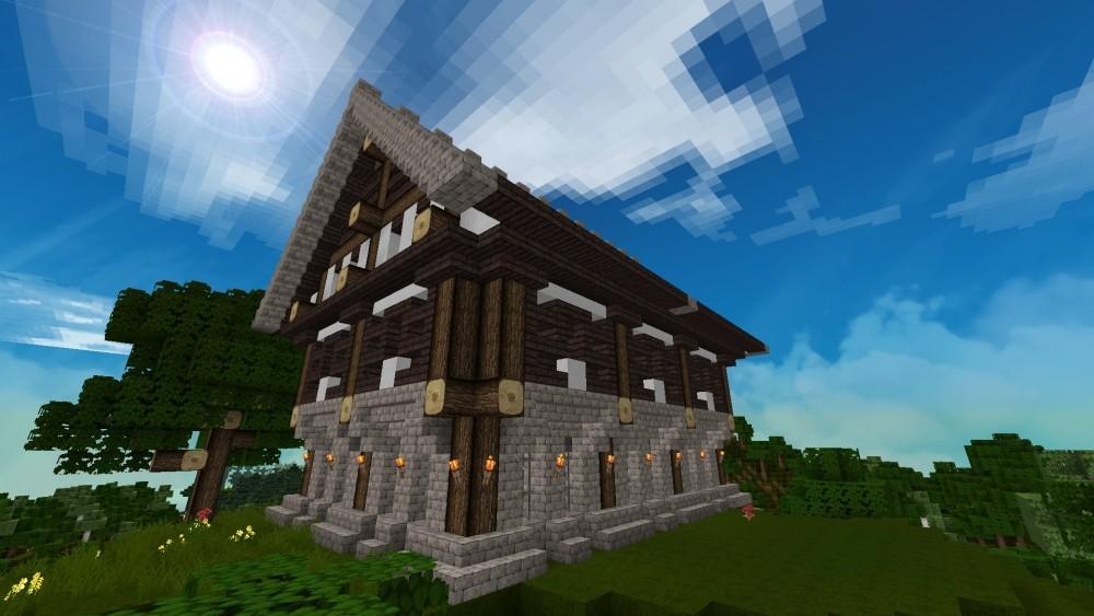 mittelalterliches herrenhaus in minecraft bauen minecraft. Black Bedroom Furniture Sets. Home Design Ideas