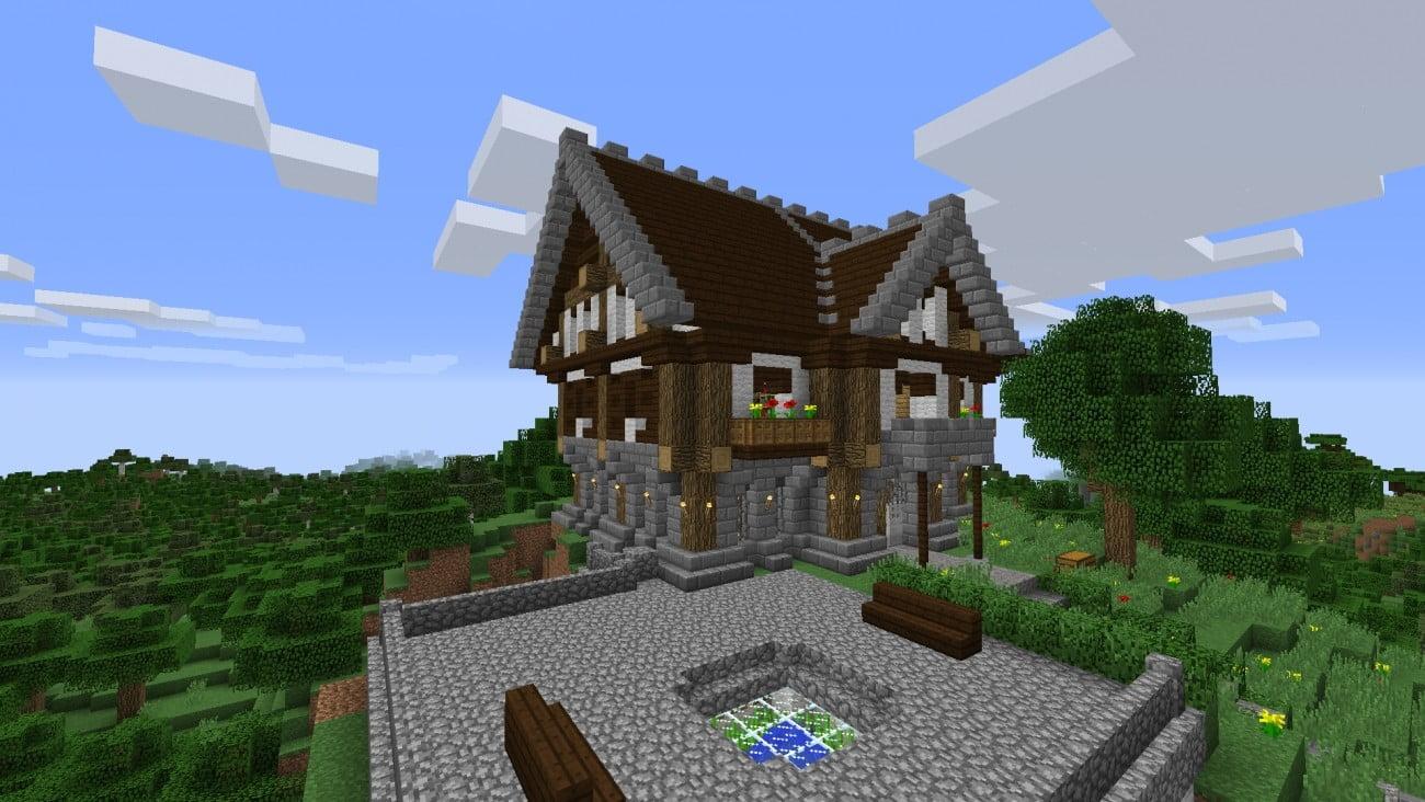 Mittelalterliches herrenhaus in minecraft bauen for Bauideen minecraft
