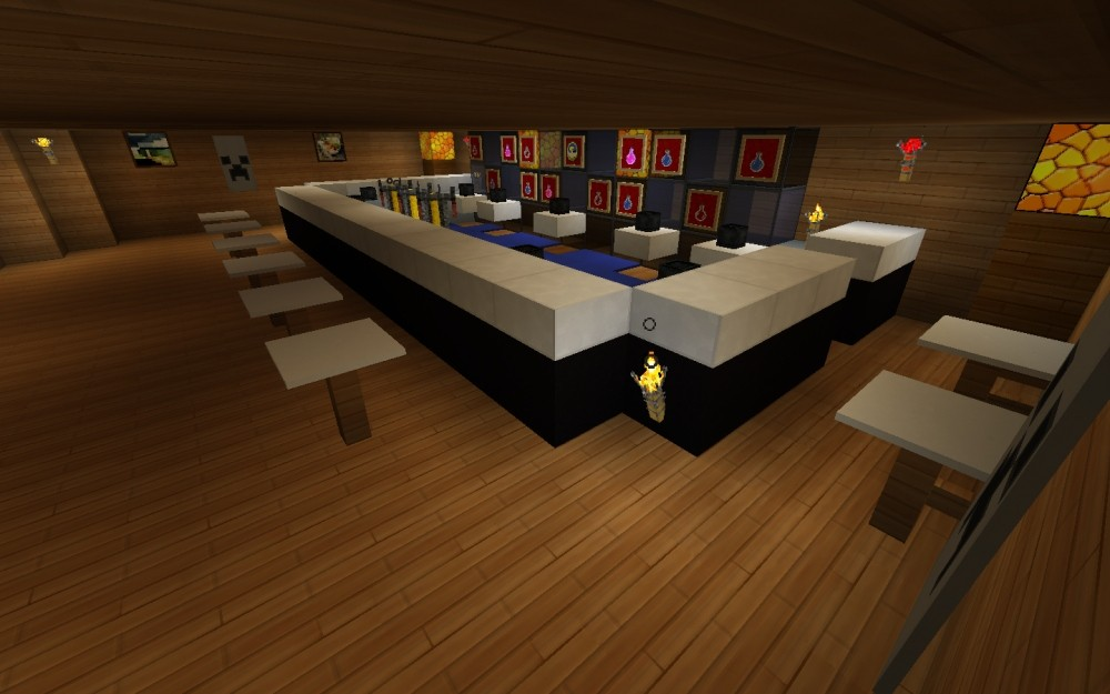 Moderne bar in minecraft bauen minecraft for Bar moderne