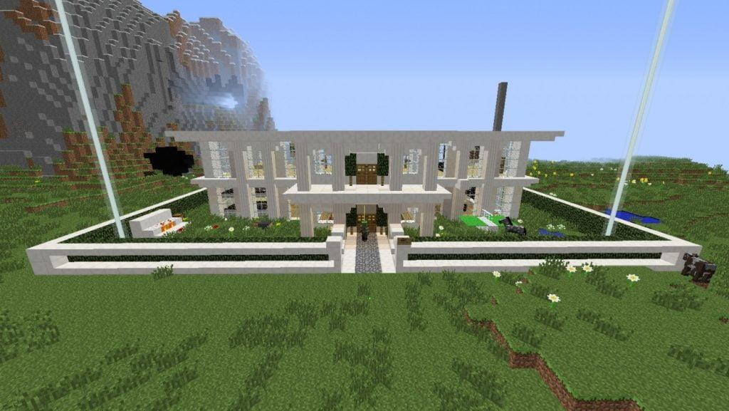 Moderne villa mit garten in minecraft bauen minecraft for Moderne villa bauen