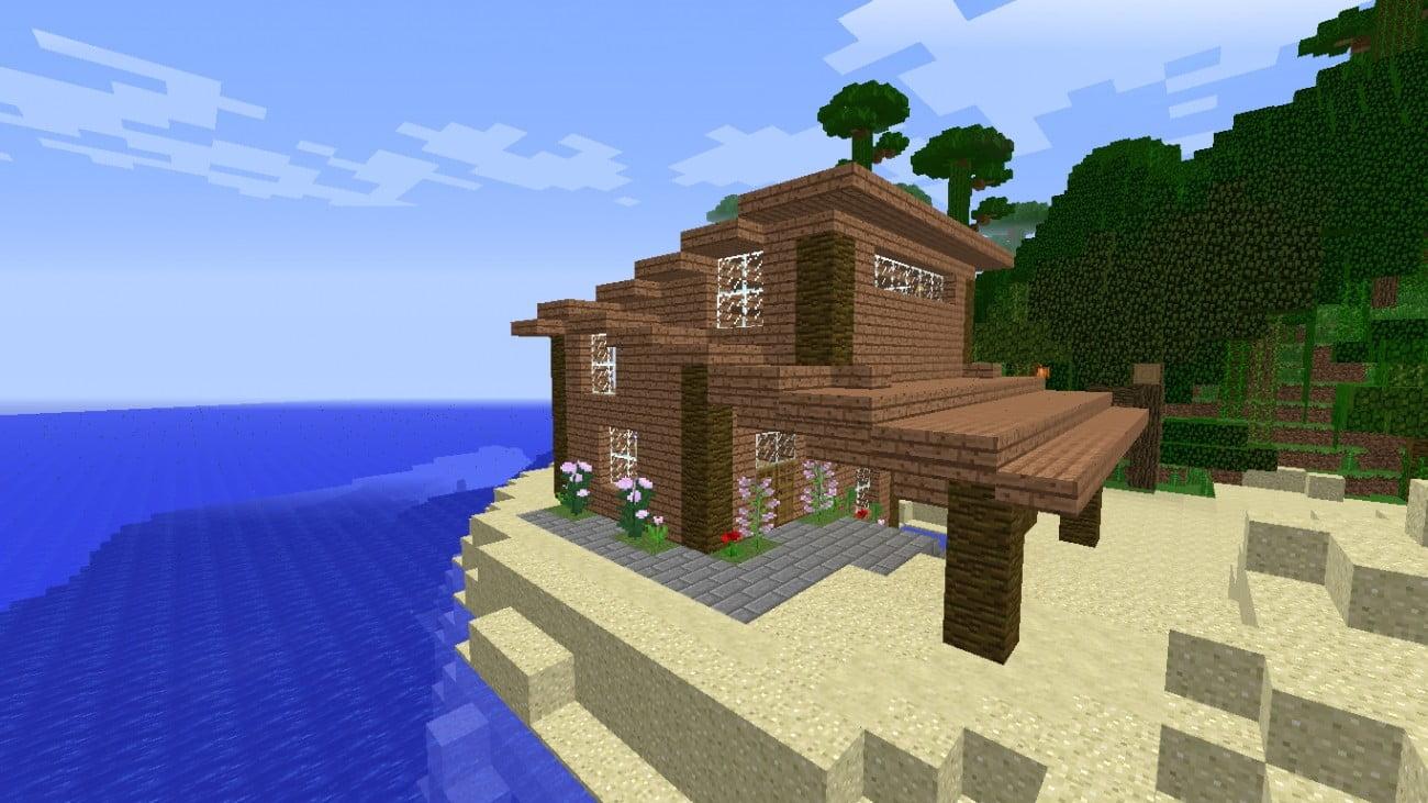 ᐅ Modernes Dschungelhaus in Minecraft bauen - minecraft-bauideen.de