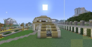 Modernes futuristisches haus in minecraft bauen for Modernes redstone haus
