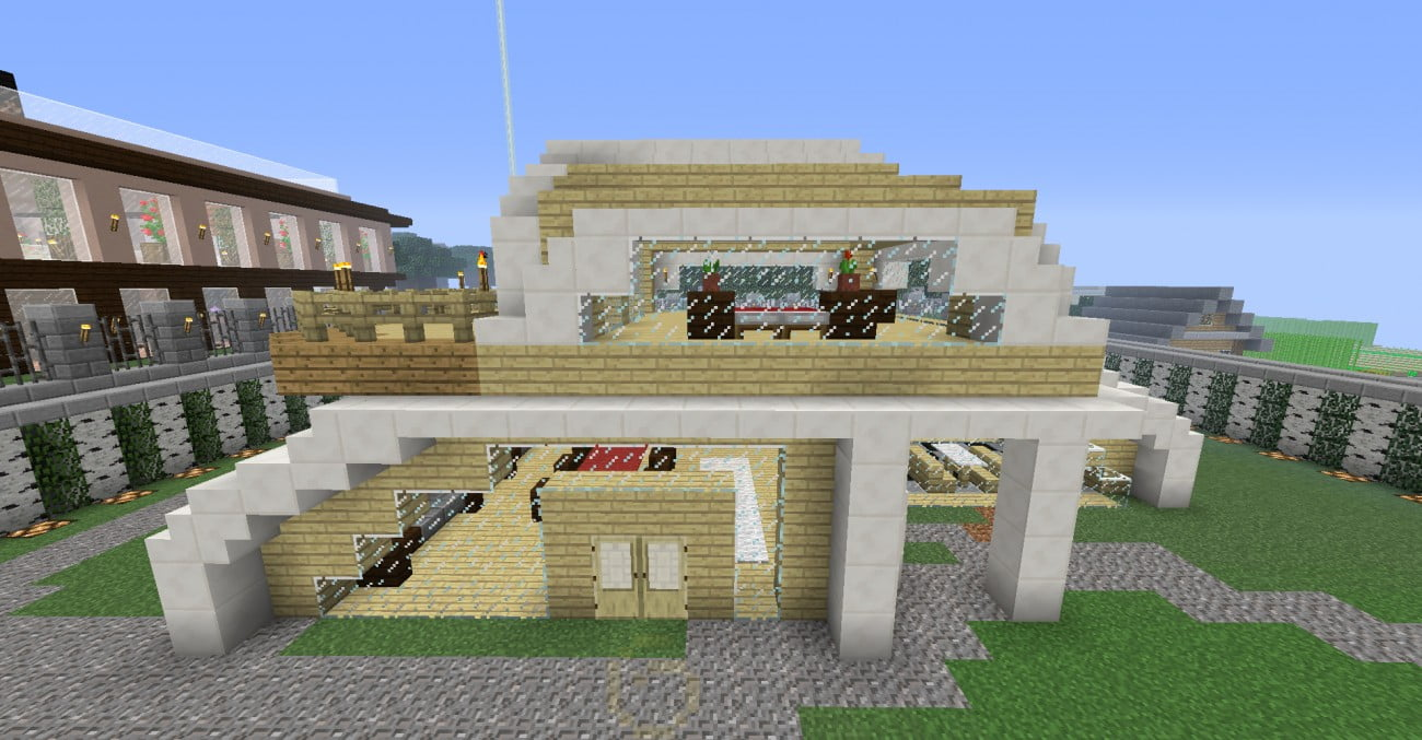 Modernes futuristisches haus in minecraft bauen for Craftingpat modernes redstone haus