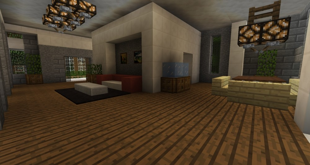 modernes haus in minecraft bauen minecraft. Black Bedroom Furniture Sets. Home Design Ideas