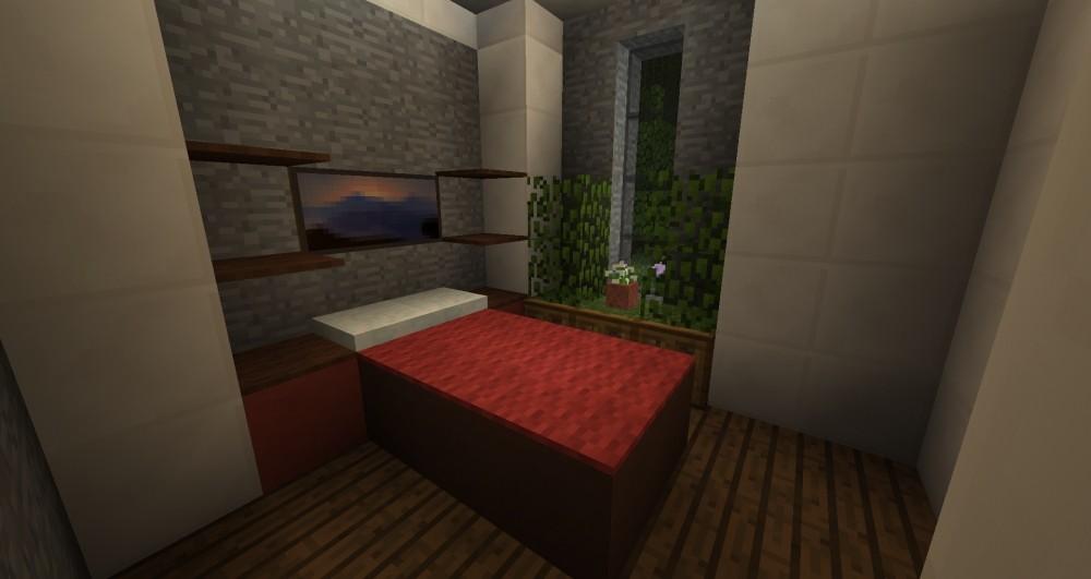 modernes haus minecraft bauideen. Black Bedroom Furniture Sets. Home Design Ideas