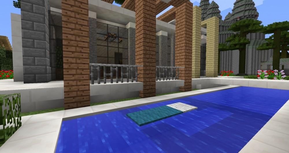 Minecraft Garten Modern Alles über Wohndesign Und Möbelideen - Minecraft haus mit garten bauen